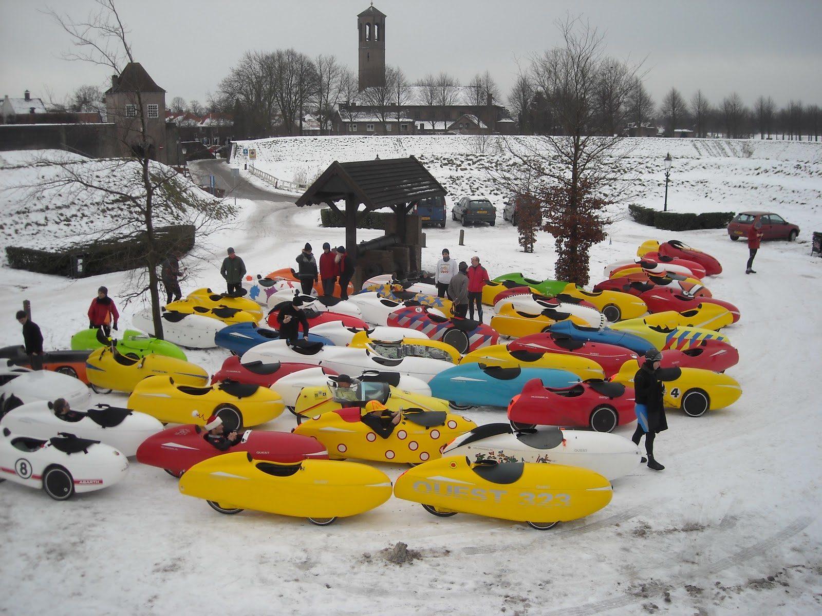 Velomobiles in the snow